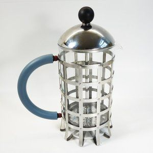 ALESSI : 8 Cup Press Filter Coffee Maker Michael